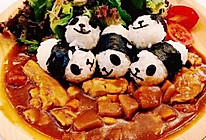 可爱寿司饭团配上牛肉咖喱饭#奇妙咖喱,拯救宝宝食欲#的做法