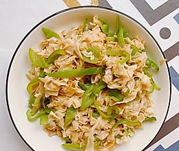 豆皮炒青椒的做法