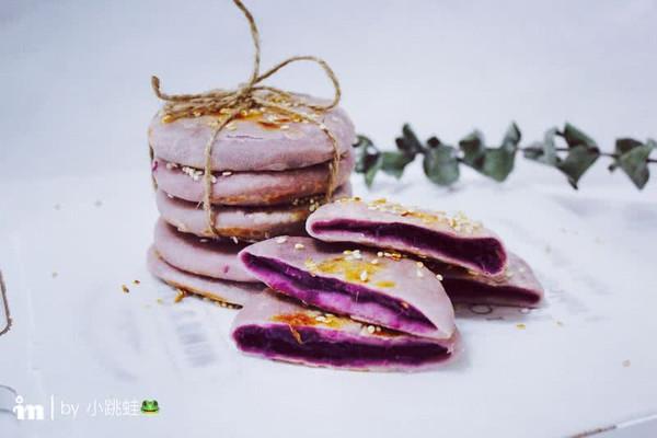 紫薯饼的做法