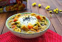 咖喱蘑菇鸡肉饭#百梦多Lady咖喱#的做法