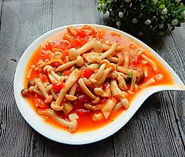 茄汁白玉菇的做法