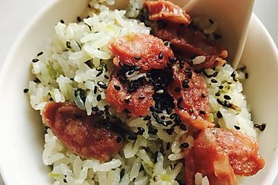 香菇青菜腊肠焖饭