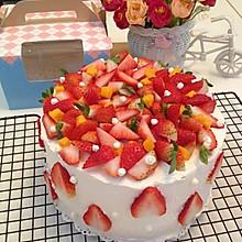 8寸奶油水果蛋糕