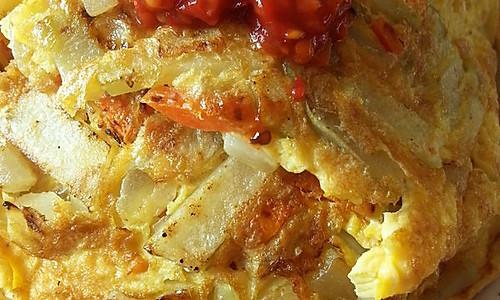 美味土豆饼(一个人的省力午餐)的做法