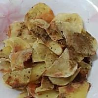 自制无油薯片的做法图解1