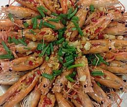 蒜蓉粉丝蒸罗氏虾的做法