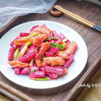 補鈣又去燥,神奇水果這樣吃:火龍果炒魚塊