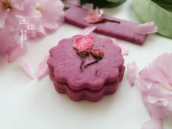 紫薯樱花饼干,有颜更好吃