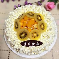 水果奶油蛋糕#豆果5周年#的做法图解13