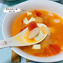 减脂餐-番茄冬瓜豆腐虾仁汤