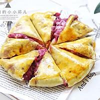 外脆内软爆浆紫薯芝士饼,超级拉丝还爆浆的做法图解12