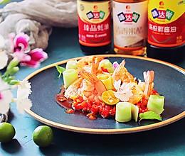 """顶呱""""瓜""""网红~泰式柠檬虾拌黄瓜的做法"""