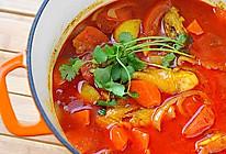 红咖喱鸡肉炖杂蔬的做法