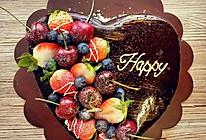 水果巧克力淋面蛋糕的做法