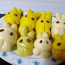 萌萌哒彩色小兔子馒头#福临门面粉#舌尖上的寻味之旅