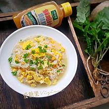金针菇炒鸡蛋#太太乐鲜鸡汁蒸鸡原汤#