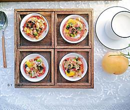 #秋天怎么吃#火腿鹌鹑蛋塔#麦子厨房小红锅#的做法