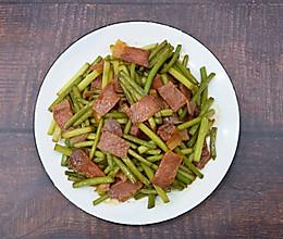 #福气年夜菜#蒜苔炒腊肉的做法