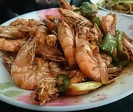 辣炒青虾的做法