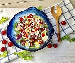 鹌鹑蛋果蔬沙拉的做法