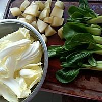 清炖雪莲果豆腐丸子锅的做法图解1