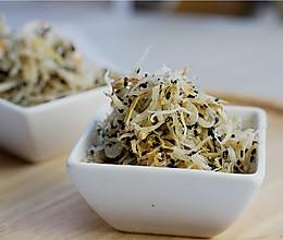 麻香银鱼虾皮的做法