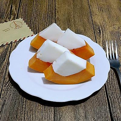 木瓜酸奶冻(木瓜和酸奶更配哦~)