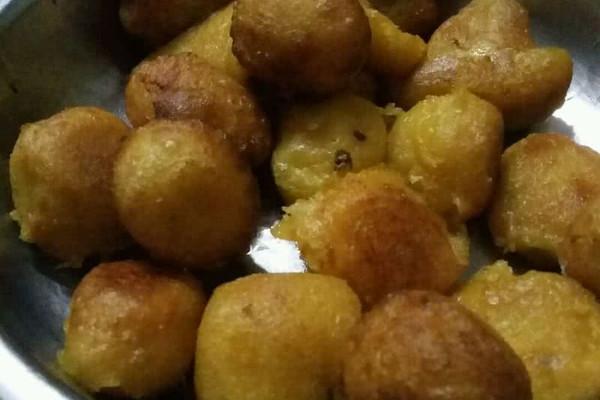 番薯芝心丸的做法
