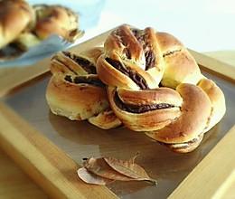 可可卡仕达花面包的做法