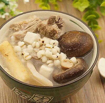 淮山茯苓薏米去湿暖胃汤