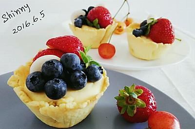 脆皮蓝莓奶酪挞#我动了你的奶酪#