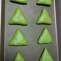 抹茶奶酪软欧面包#樱花味道#的做法图解9