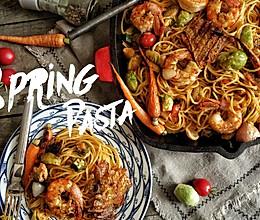 春日海鲜pasta的做法