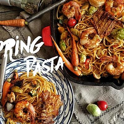 春日海鲜pasta