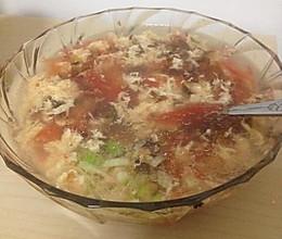 西红柿鸡蛋紫菜汤的做法