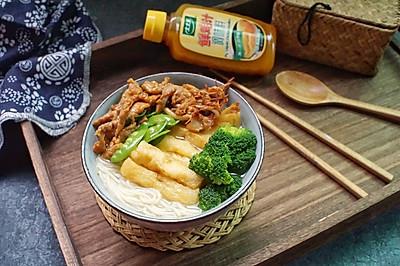 鲜鸡汁过桥米线#太太乐鲜鸡汁蒸鸡原汤#