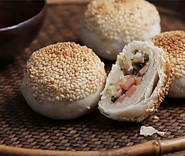 【蟹壳黄】火腿肉加小葱,这糕饼香酥一绝!的做法