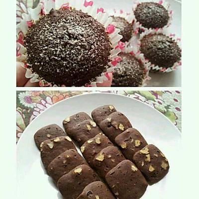 布朗尼核桃巧克力蛋糕/巧克力豆饼干(重磅能量继续版)
