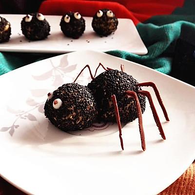 万圣节之黑芝麻球——蜘蛛&小精灵
