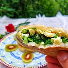 #太太乐鲜鸡汁玩转健康快手菜#鲜掉眉毛的韭菜鸡蛋煎饼