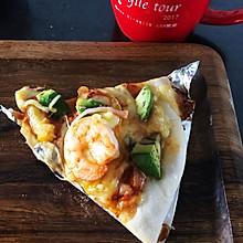 亲子做-意式披萨-牛油果大虾