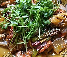 干锅翅中虾的做法
