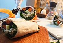 #换着花样吃早餐#低脂满分墨西哥鸡肉卷的做法