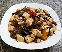 海带炖豆腐的做法