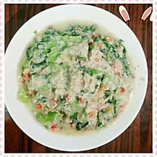 青菜炒豆渣