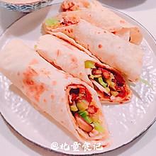#豆果10周年生日快乐#卤肉饭副产品:燕麦薄饼卤肉卷