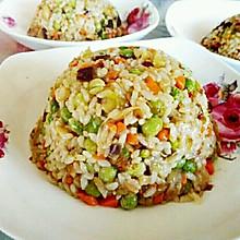 茄丁豌豆炒饭