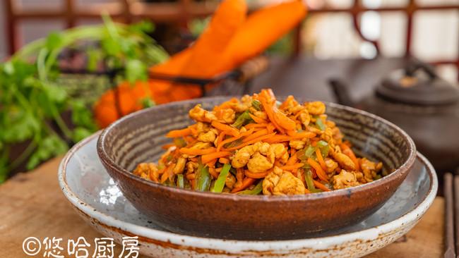 鱼香鸡丝(附铁锅开锅)的做法
