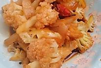 腊肉炒花菜的做法
