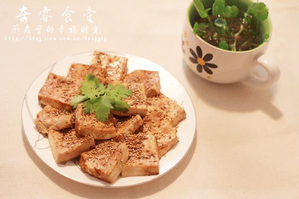 微波炉烤豆腐的做法